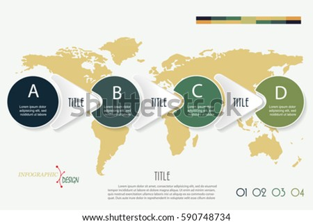 Vector infographic elements 4 options world stock vector hd royalty vector infographic elements with 4 options and world map template for diagram graph gumiabroncs Choice Image