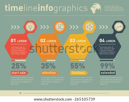 Vector infographic of education process. Web Template of diagram or presentation. Business concept with 4 options. - stock vector
