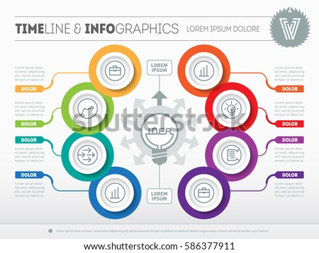 Vector Infographic Technology Education Process Business Stock ...