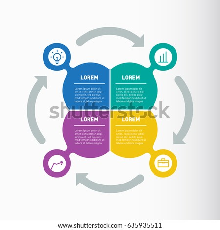 Vector Infographic Web Template Diagram Business Stock Vector ...