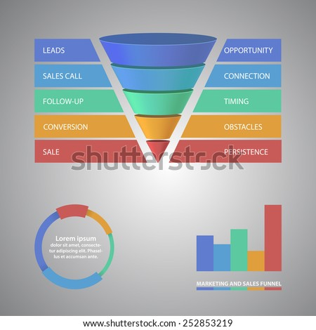 Vector infographic or web design template. EPS10 vector illustration - stock vector
