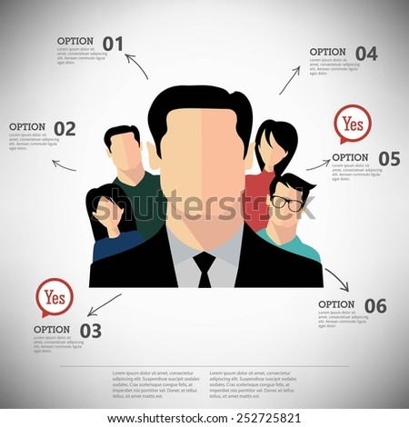 Vector infographic report template - stock vector