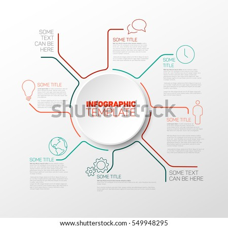 Infographic Ideas infographic lines : Vector Infographic Report Template Made Lines Stock Vektor ...