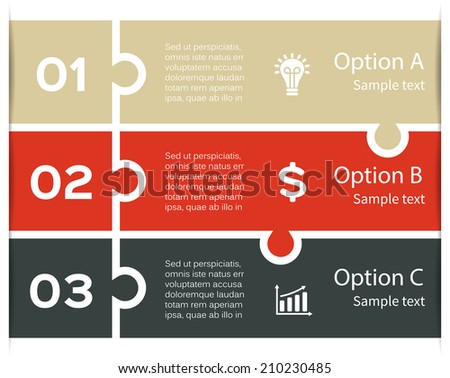 Vector infographic. Template for diagram, graph, presentation and chart. Business concept with three options, parts, steps or processes. Abstract background. - stock vector