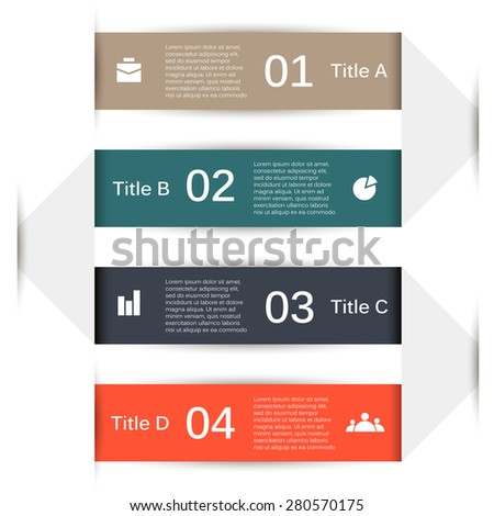 Vector infographic. Template for diagram, graph, presentation and chart. Business concept with 4 options, parts, steps or processes. Abstract background.