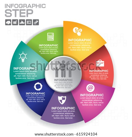 Vetor stock de vector infographic template diagram graph template for diagram graph presentation and chart business concept with ccuart Choice Image