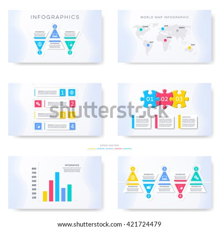Vector infographic template for presentation slides third part - stock vector