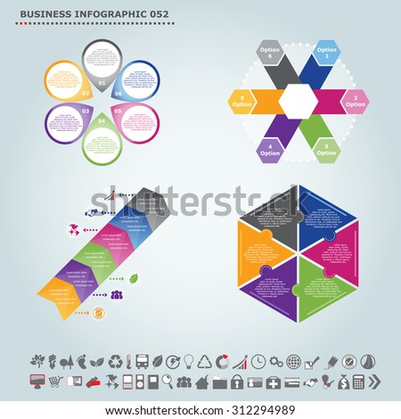 Vector Infographic Template Regular Pentagon Infographic Stock ...