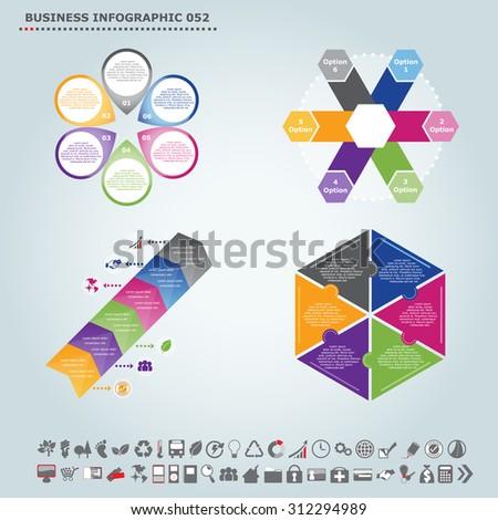 Vector infographic template (regular pentagon): Infographic, infochart , diagram & flowchart design for presentation & business (Part 52) - stock vector