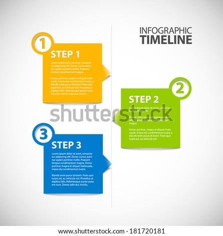 Infographic timeline free template