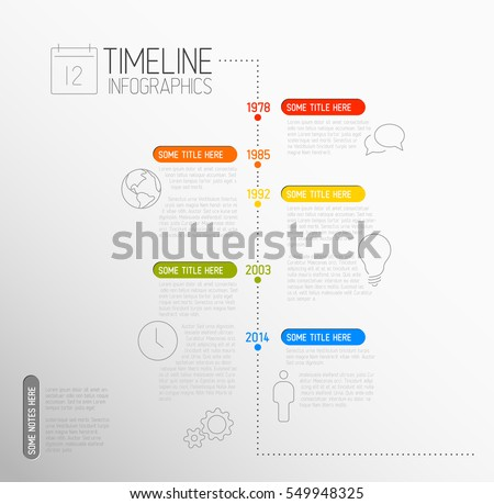 Infographic Ideas infographic lines : Vector Infographic Timeline Report Template Lines Stock Vector ...
