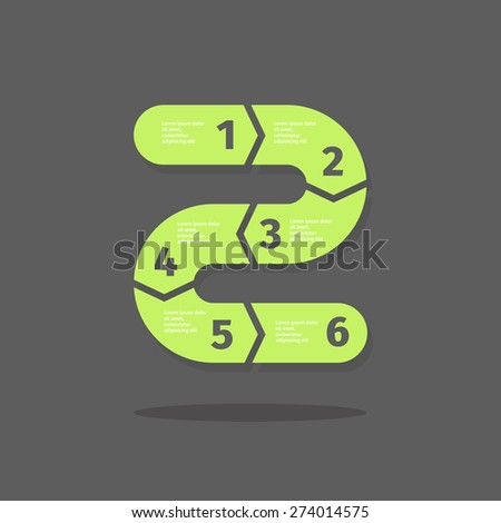 Vector infographics design in curve style - stock vector