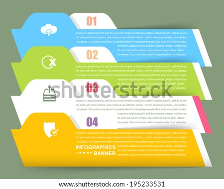 Vector Infographics Template and Web Elements Light Color