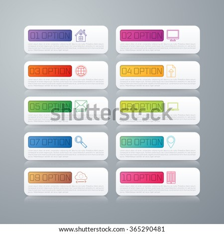 Vector infographics template. Colorful modern design. Vector illustration