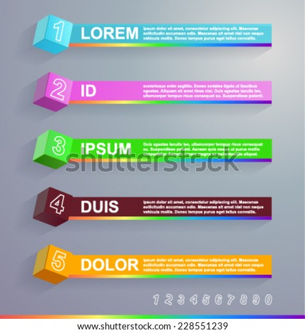 Vector infographics with cubes - stock vector