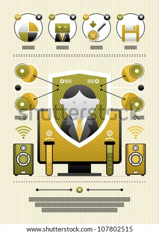 vector infographics with icons - stock vector