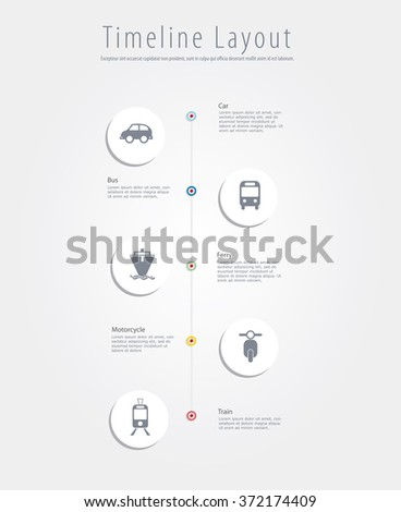 Vector infographics with transportation icons. - stock vector
