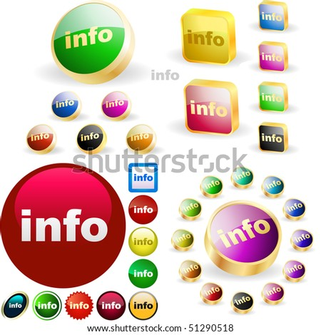 Vector information button. Vector great collection. - stock vector