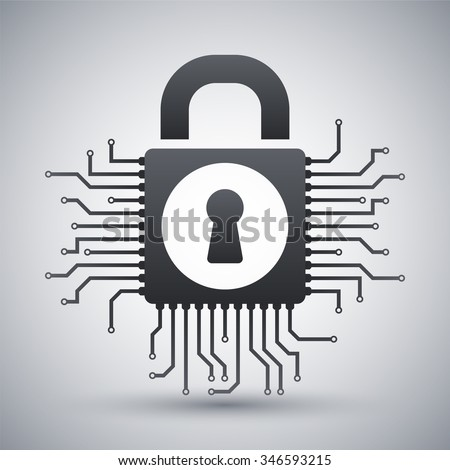 Vector information security concept icon