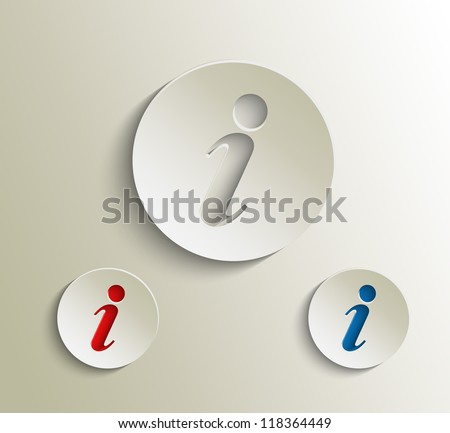 vector information web icon design element. - stock vector
