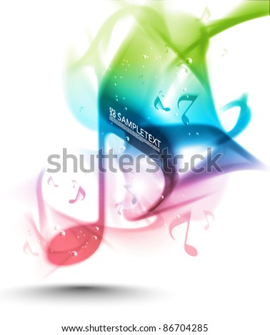 Vector Ink Melody - stock vector