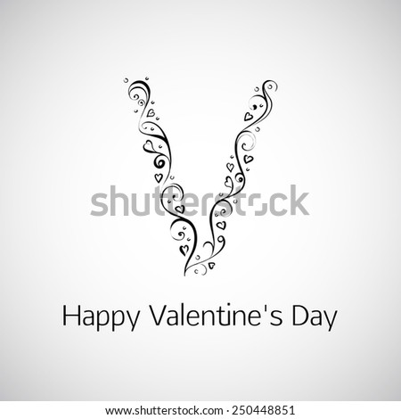 Vector inscription Happy Valentine's Day - stock vector