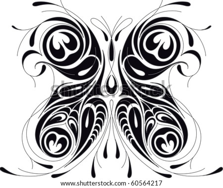 Peacock tattoo stock photos images pictures shutterstock for Peacock tattoo black and white