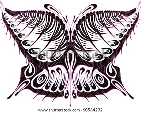 Hand drawn heart ornament isolated vector stock vector for Peacock tattoo black and white