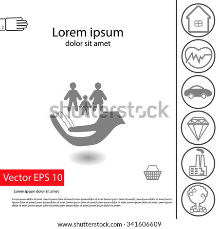 Home Luxury Items vector insurance icons set home insurance stock vector 347672603