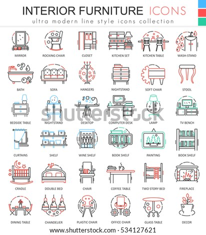 Interior design icon stock images royalty free images for Interior design web app