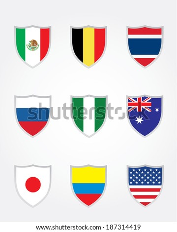 Vector International World Cup of Soccer Crest Collection