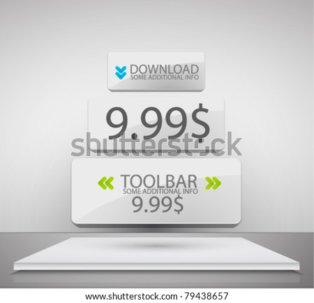 Vector internet advertising web box - stock vector