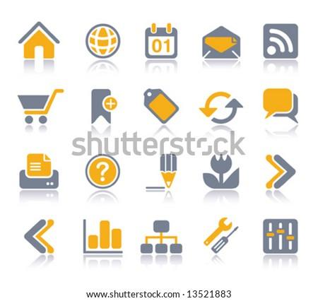 VECTOR Internet / Web Icon set | Veeta series - stock vector