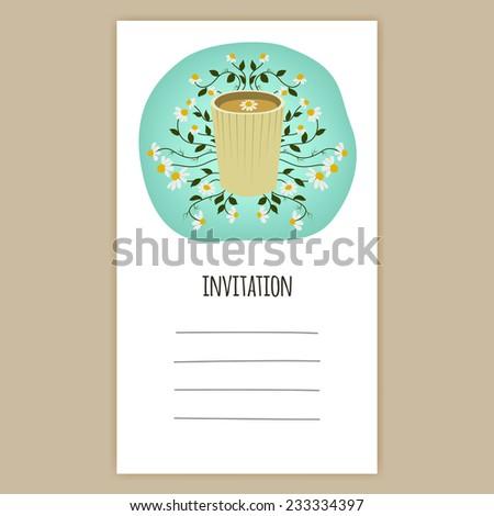 Vector Invitation Card Birthday Card Celebration Stock Vector