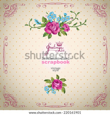 Vector invitation card floral ornament wedding stock vector hd vector invitation card with floral ornament wedding card or invitation with floral background greeting stopboris Choice Image