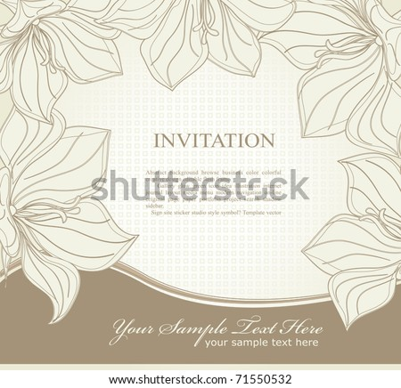 vector  invitation with flowers