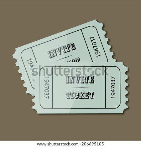 Vector invite tickets - stock vector