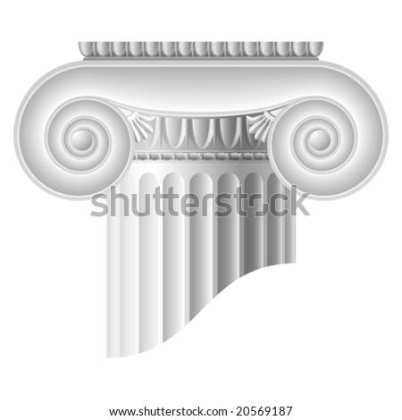 Vector Ionic column - stock vector