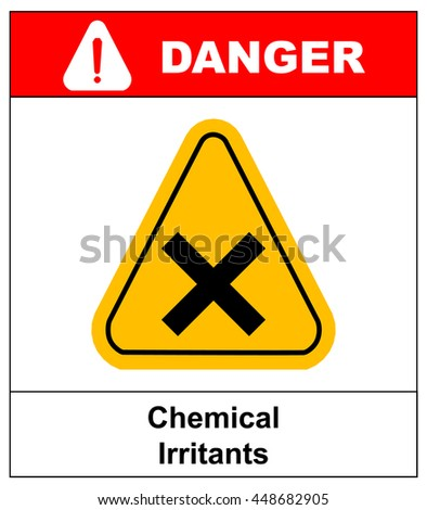 vector irritant sign - stock vector
