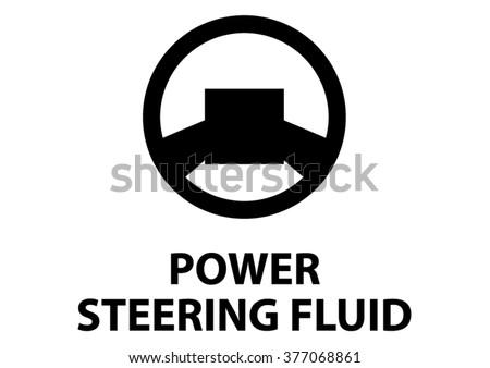 Vector isolated dashboard sign. power steering fluid - stock vector