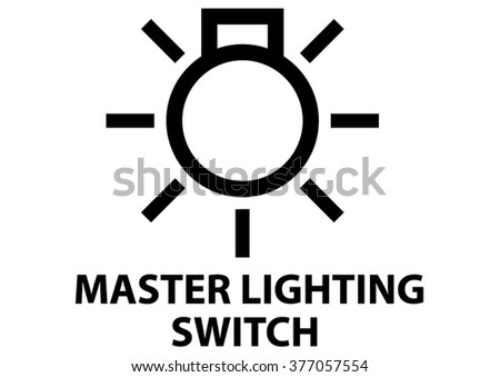 Vector Isolated Dashboard Sign With Description Master Lighting Switch