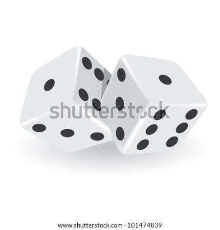Vector Isolated Dice - stock vector