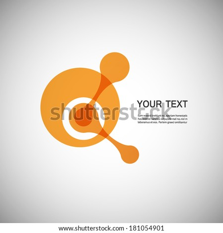 Vector isolated elementary particle. EPS10 - stock vector