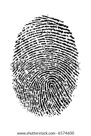 vector isolated fingerprint - stock vector