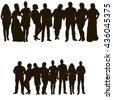 vector, isolated set of people - stock vector