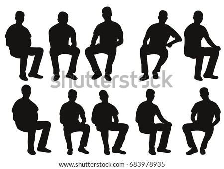 how to create a person sitting stillouette