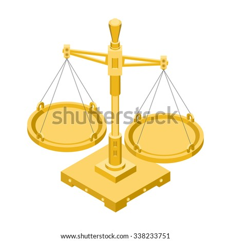 Vector isometric illustration of scales - stock vector