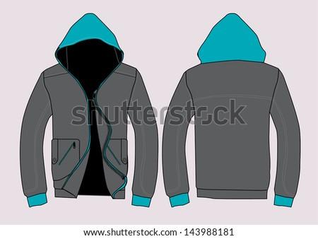 vector jacket design template - stock vector