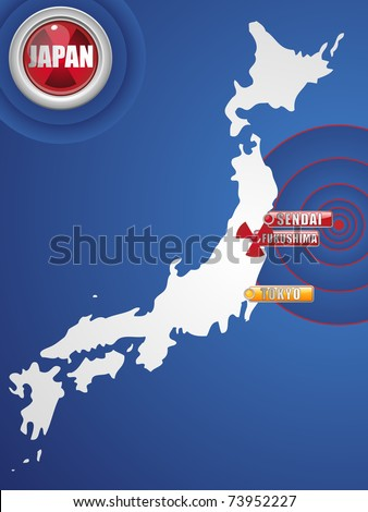 Vector - Japan Earthquake and Tsunami Disaster 2011 - stock vector
