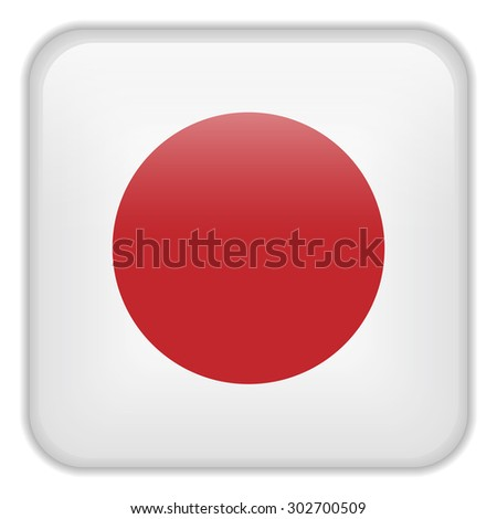 Vector - Japan Flag Smartphone Application Square Buttons - stock vector